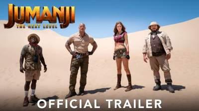 "Watch Official Trailer for ""Jumanji: The Next Level"" Starring Dwayne Johnson & Kevin Hart"
