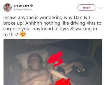 Lady Drives 4 Hours To Pay Her Boyfriend A Surprise Visit, Only To Catch Him In Bed Pants Down With Another Girl