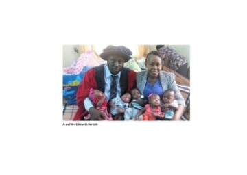 After 10 Years Of Childlessness, Nigerian Woman Gets 5 Bundles Of Joy