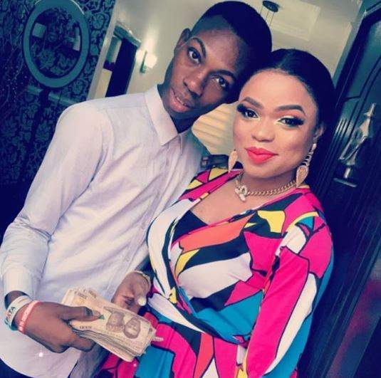 Bobrisky meets with James Brown to give him promised N100k