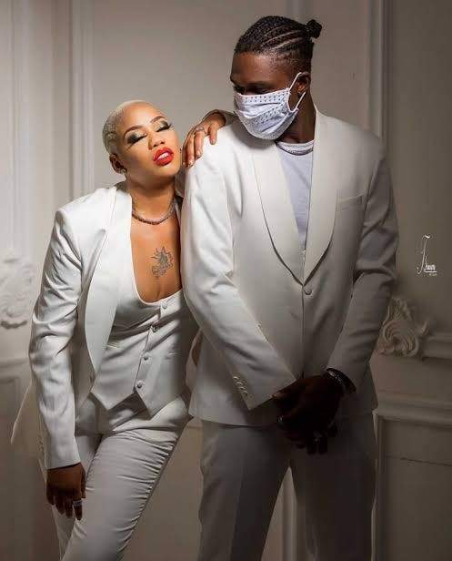 Toyin Lawani's New Man Tattoos Her Name On His Chest (Photos)