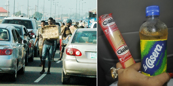 """""""My boyfriend called me local and said I'm embarrassing because I bought Gala and Groundnut in traffic"""""""