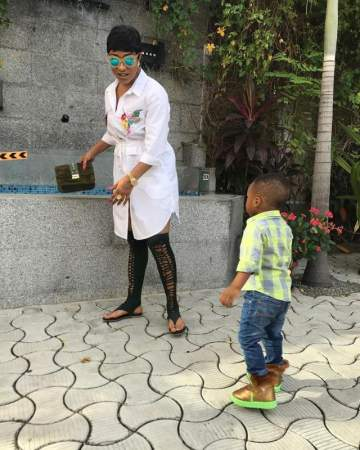 Tonto Dikeh Shares Lovely Photos With Her Son, King As He Turns 22 Months Old.