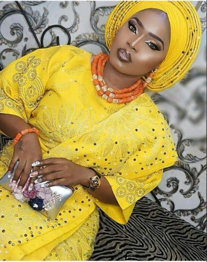 Actress Halima Abubakar forgets to switch accounts while commenting on her own post