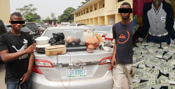 Unbelievable See 15 Yahoo Boys Arrested With Coffins And Charms By Efcc See Photos