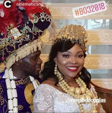 Olu Jacobs' daughter-in-law, Blessing Douglas claims her wedding cost over N10million