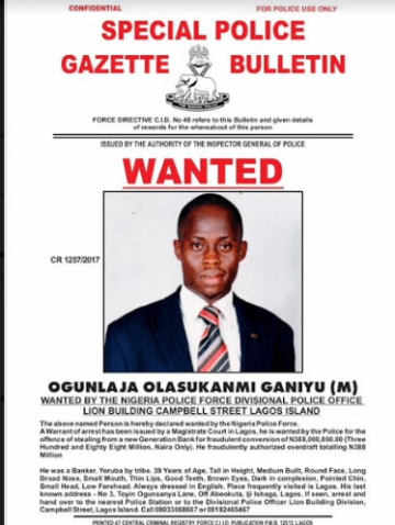 Police declare 9 bankers wanted for stealing customers' deposits totaling over N500million