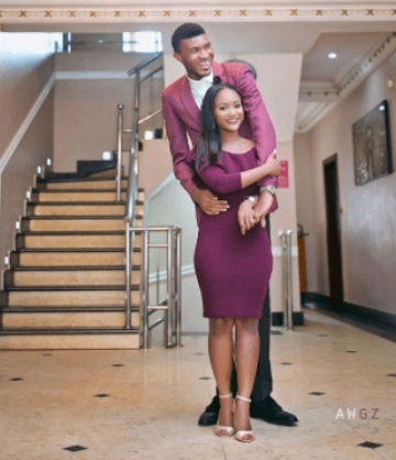 Pre-wedding photos of a Nigerian bride and her very tall groom