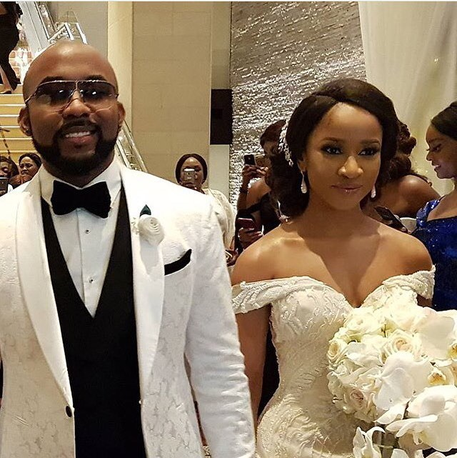 A picture from Banky W's white wedding in SA.