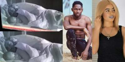 #BBNaija: Miracle and Nina caught having sex.. Then he wore his boxers after he finished (video)