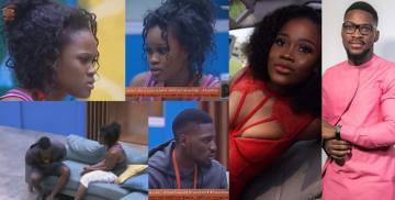 #BBNaija: Tobi walks away from Cee-C.... and she breaks down in tears...