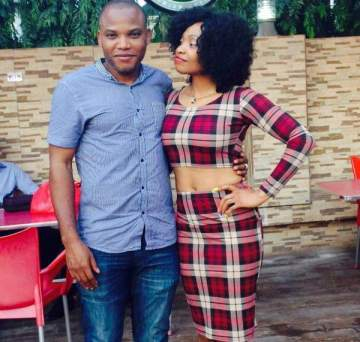 Nnamdi Kanu and his wife spotted by security agents in Ghana