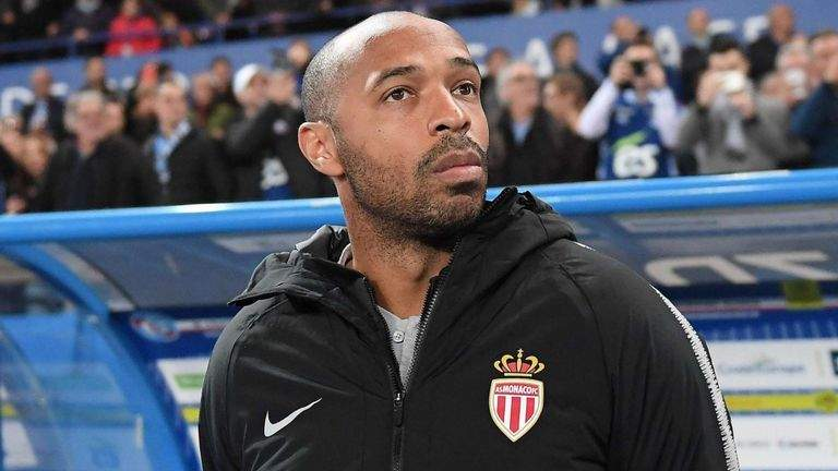 Thierry Henry loses first match as Monaco coach