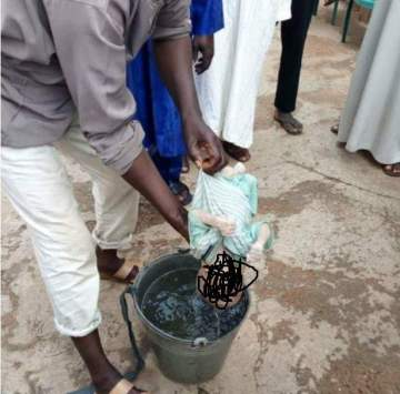 Newborn baby allegedly dumped by unknown mother, found dead in a well (graphic photos)