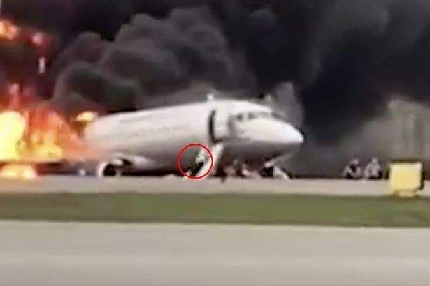 Burning Plane In Moscow
