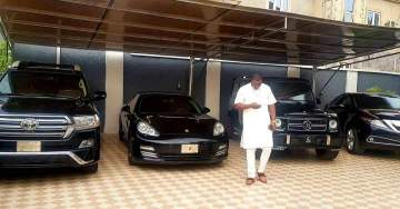 Nigerian big boy, Escoba Smith shows off his fleet of expensive cars (Photo)