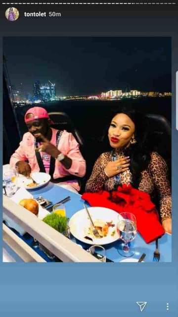'I Love You' - Tonto Dikeh Flaunts Lover As She Goes On A Romantic Dinner With Him(Photos)
