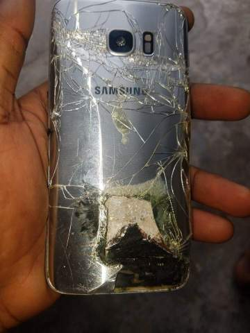 Man escapes being burnt alive after his Samsung phone exploded