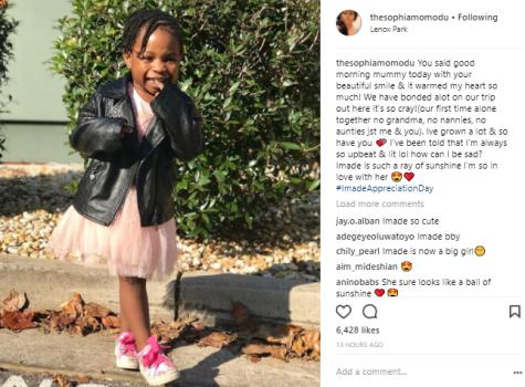Davido's Babymama, Sophia Momodu Writes A Heartfelt Message To Their Daughter
