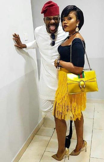 Uchendu And Wife And Bag