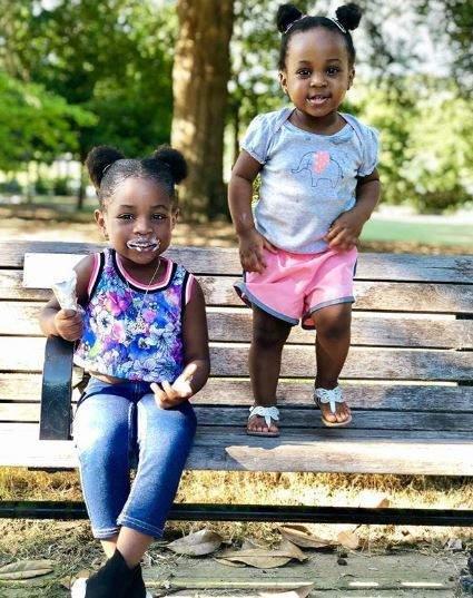 Imade and her sister, Hailey Adeleke