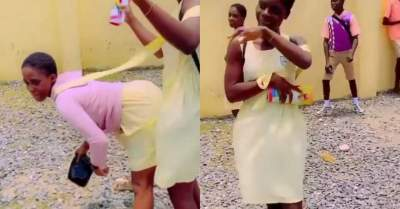 Female SS3 students twerk away their sorrows as WAEC exams come to an end (Video)