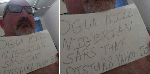 """May ogun kill Nigerian sars that disturb yahoo boys"" - White man says"