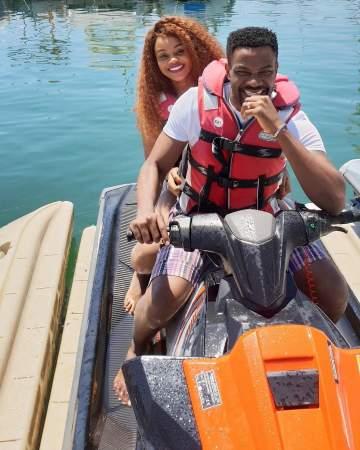 Ebuka Obi-Uchendu And Wife, Cynthia Go Jet Skiing During Vacation In Spain