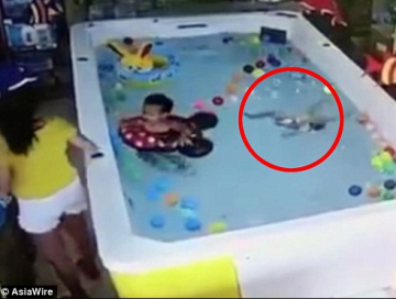 Horrifying moment one year old girl drowns on her birthday while her mother was nearby texting on her phone (Video)