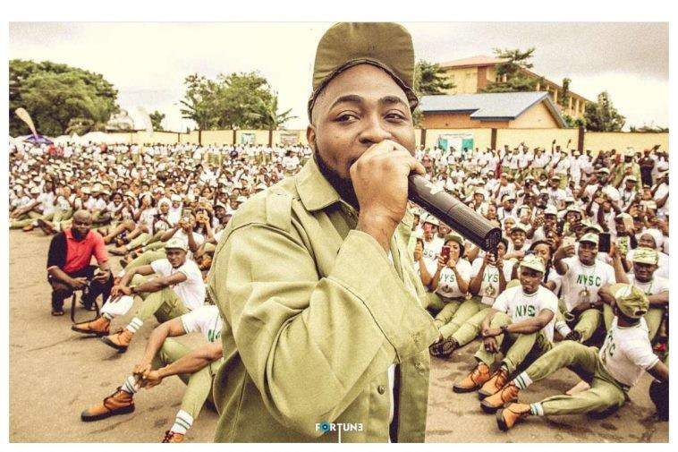 Davido Address NYSC Members1