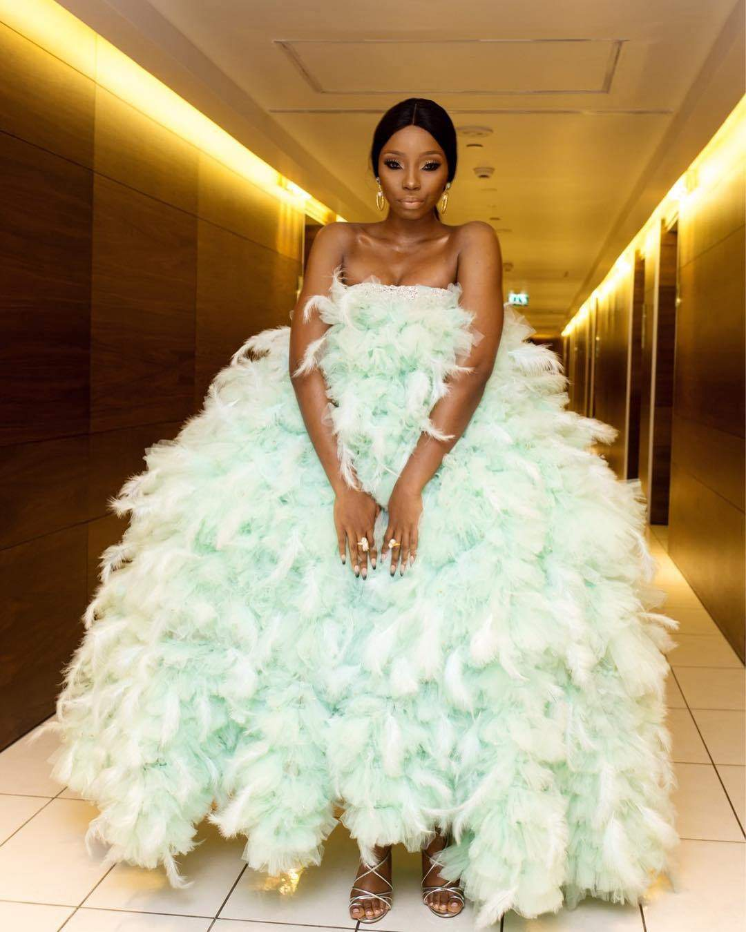 Kemi Olunloyo reacts to BamBam #AMVCA2018 outfit