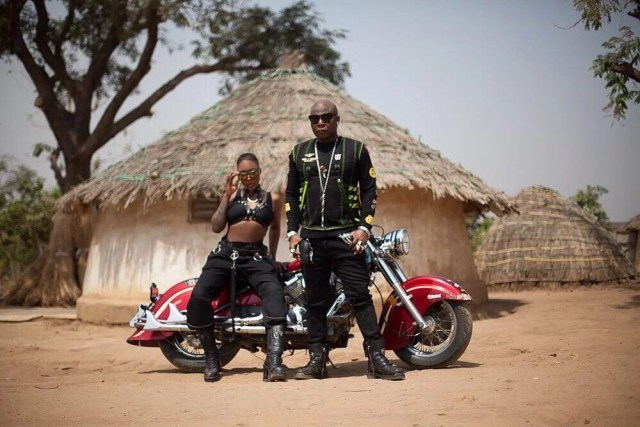 Charly Boy and daughter looking fierce in motorcycle-themed photoshoot