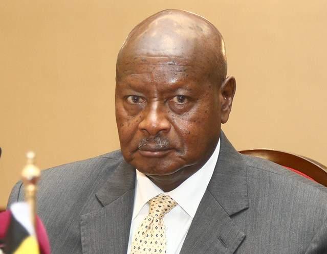 Ugandan President Spit2