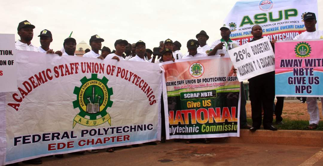 Polytechnic Lecturers Begin Nationwide  Indefinite Strike Today, As ASUU Strike Lingers On