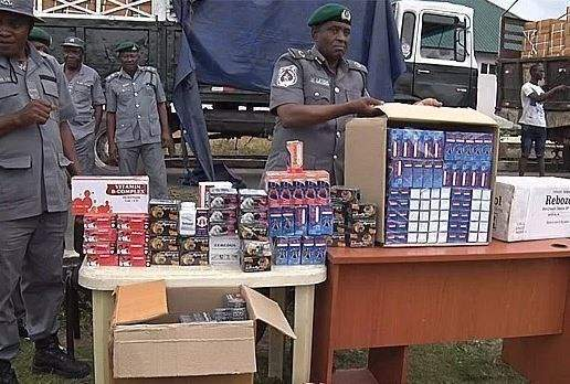 Customs seize N5b worth of banned tramadol in Lagos (See Photos)