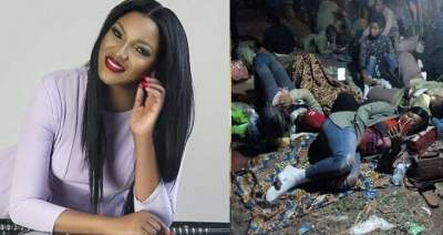 Why do parents allow their children do NYSC? - Omotola reacts to INEC's poor treatment of corpers