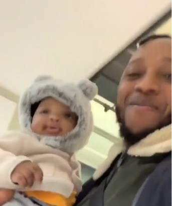 Rapper, Yung6ix shares video of his cute son, Carter.