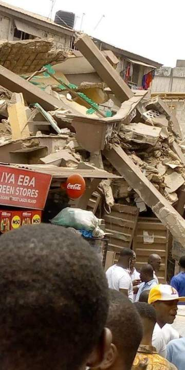 Another building collapses in Lagos Island. (Photos)