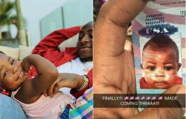 Davido's Daughter, Imade Adeleke Got Her US Passport - PHOTOS