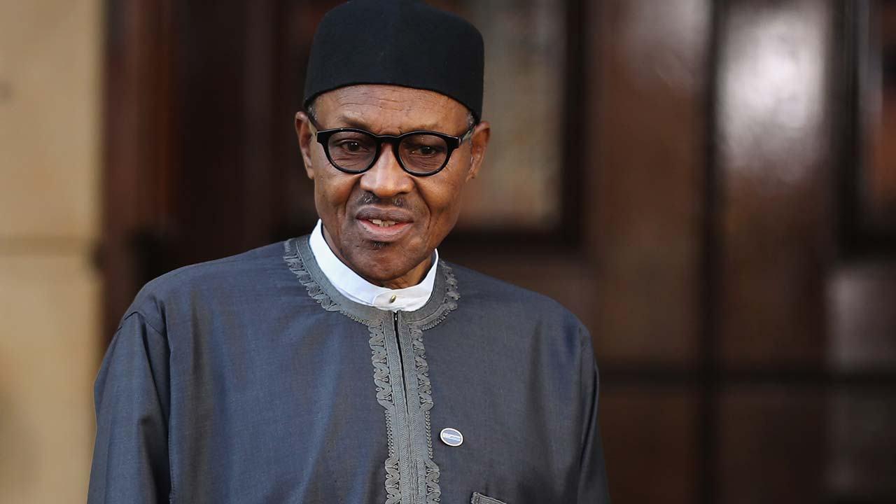Nigerian President Muhammadu Buhari London. 1