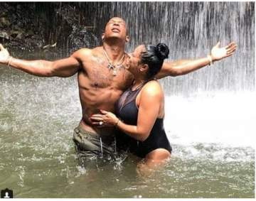 Couple goals: JaRule and wife Aisha Atkins take a dip in the lake (Photos)
