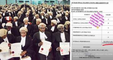 Nigerian Law School Student Has 4As But Still Gets A Second Class Lower. (Photo)