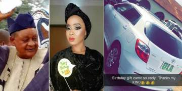 Alaafin of Oyo gifts youngest wife with brand new car as an early birthday gift