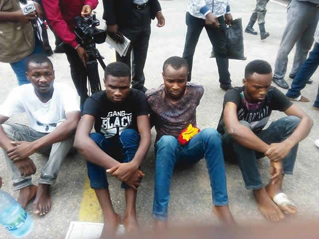 The Suspects. Burna Boy's manager, (Far Left)