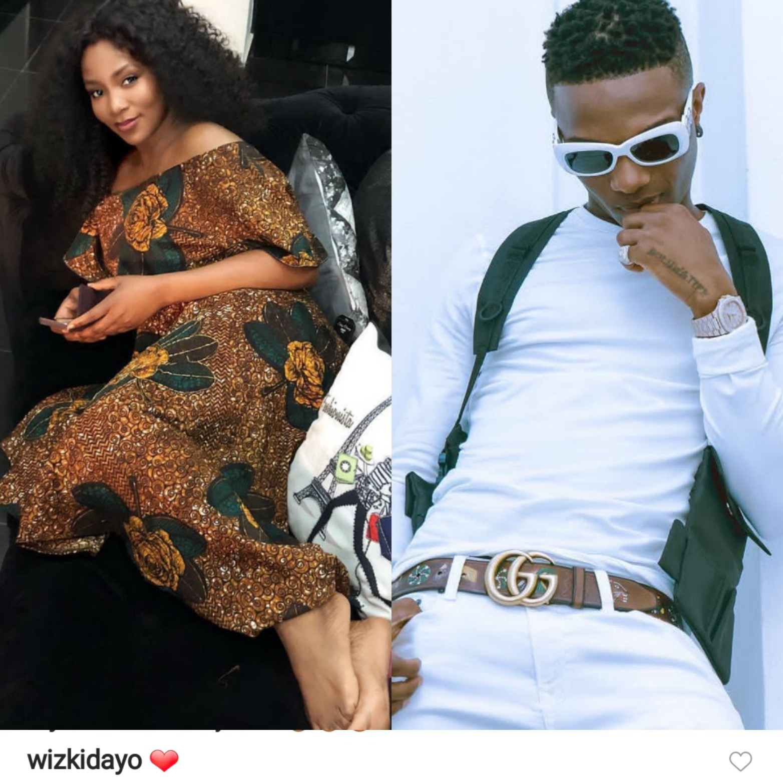Wizkid Comment On Genny Photo