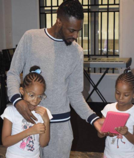 9ice with twin daughters, Hazeeza and Hadiza