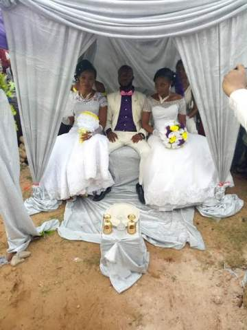 More Photos From Wedding In Abia Where One Man Married Two Wives The Same Day.
