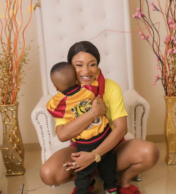 I will give you the whole world and more - Tonto Dikeh tells son