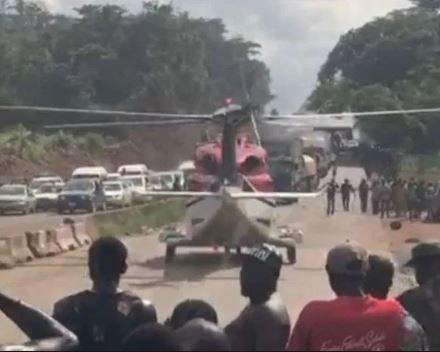 Helicopter In Traffic
