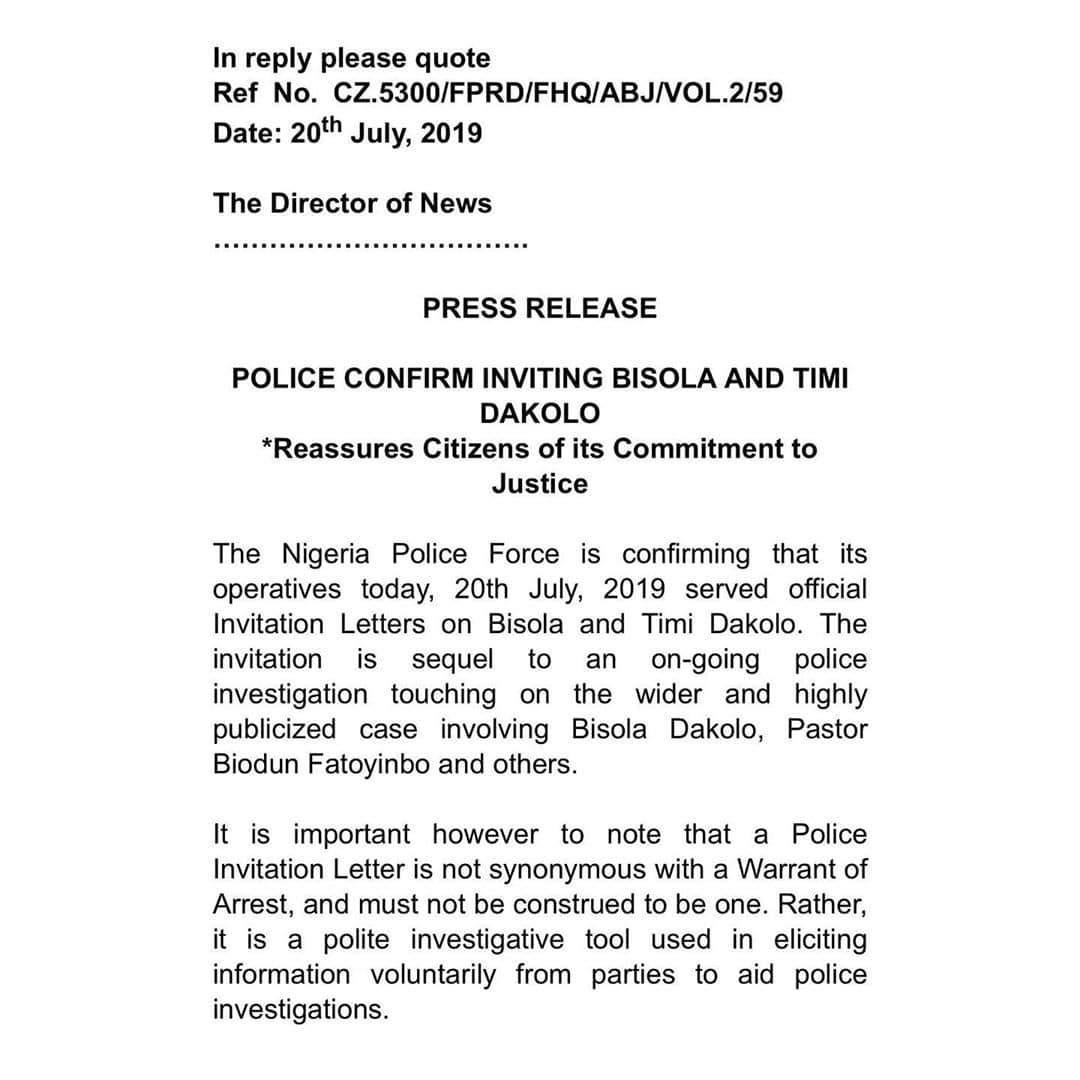 Timi Dakolo Police